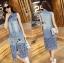 Lady Ribbon Online ขายส่งเสื้อผ้าออนไลน์ ขายส่งของแท้พร้อมส่ง Lady Ribbon LR05250716 &#x1F380 Lady Ribbon's Made &#x1F380 Lady Shannon Embroidered and Laser-Cut Denim Shirt Dress thumbnail 4