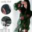 2Sister Made, Emerald Green Cuties Dress เดรสสั้น ผ้าchiffonพริ้วบางเบาพิมพ์ลายดอกสวยทั้งตัว thumbnail 2
