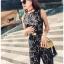 Lady Ribbon Plain Lace Jumpsuit จัมป์สูทขายาว thumbnail 4