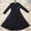 Long dress. ลูกไม้ดำผ้านุ่มลื่นไม่คัน คอปิด thumbnail 5