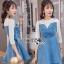 Lady Ribbonc Lace and Denim Mini Dress thumbnail 2