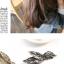w1381 - Hair Accessories,ที่คาดผม,เครื่องประดับผม,กิ๊ปติดผม,เครื่องประดับ feather starfish hairpin thumbnail 4