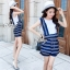 Lady Ribbon Online เสื้อผ้าแฟชั่นออนไลน์ขายส่ง เลดี้ริบบอนของแท้พร้อมส่ง sevy เสื้อผ้า SV01240716 &#x1F389Sevy Two Pieces Of Sleeveless Stripes Edge With Shorts Sets thumbnail 3