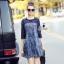 denim dress เดรสงานผ้าdenimสุดเก๋ ช่วงไหล่แ thumbnail 1