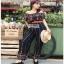 Jumpsuit with Silk Satin Belt Lady Ribbon จัมป์สูทผ้าเครป thumbnail 4