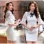 Lady Ribbon Online เสื้อผ้าออนไลน์ขายส่ง very very pretty เสื้อผ้า VP05140816 Princess White Lace and Cotton Dress thumbnail 3