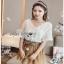 Mini Flower White Chiffon Lady Ribbon เสื้อผ้าชีฟองสีขาว thumbnail 3