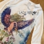 Lady Ribbon Online ขายส่งเสื้อผ้าออนไลน์เลดี้ริบบอน LR10010816 &#x1F380 Lady Ribbon's Made &#x1F380 Lady Olivia Smart Casual Colourful Printed Dress เดรสผ้าสีขาว thumbnail 6