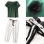 Lady Ribbon Online เสื้อผ้าออนไลน์ขายส่ง Normal Ally เสื้อผ้า NA14180816 &#x1F389Normal Ally Present new summer set casual pant and satin T-shirt set&#x1F389 thumbnail 6