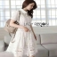 Lady Ribbon Sweet White Lace Shirt Dress thumbnail 4