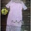Lady Ribbon Online เสื้อผ้าออนไลน์ ขายส่ง VP02110716 Luxury Embroidered Flowers Lace Dress thumbnail 4