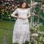Lady Ribbon Eves Princess Style Dress ยาวขายส่งเดรสผ้า thumbnail 3