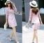Lace Dress in Pink เดรสตกแต่งผ้าลูกไม้สีชมพูอ่อนสไตล์ฮอลิเดย์ thumbnail 2