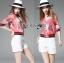 Lady Ribbon ขายส่งเสื้อผ้าออนไลน์พร้อมส่งของแท้ LR07220716 &#x1F380 Lady Ribbon's Made &#x1F380 Gucci Pink Floral Printed Sporty Bomber Jacket thumbnail 1