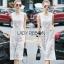 Lady Ribbon Lace Jumpsuit จัมป์สูทสีขาว thumbnail 3