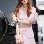 Lady Ribbon Online ขายส่งเสื้อผ้าออนไลน์ เสื้อผ้า Sevy SV03040816 &#x1F389Sevy Two Pieces Of Blouse Lace With Skirt (Sets) Type: Blouse+Skirt (Sets) thumbnail 3