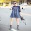 denim dress เดรสงานผ้าdenimสุดเก๋ ช่วงไหล่แ thumbnail 4