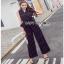 Lady Ribbon Black and White Polkadot Jumpsuit จัมป์สูทผ้าเครป thumbnail 3