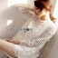 Lady Ribbon White Lace Long Blouse thumbnail 2