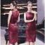 Lady Ribbon Online เสื้อผ้าออนไลน์ขายส่ง very very pretty เสื้อผ้า VP02140816 Luxury Sleeveless Lace Slim Dress By vvp เดรสแขนกุด เนื้อผ้าลูกไม้เกาหลี ลายลูกไม้ซีทรูเนื้อนิ่ม thumbnail 2