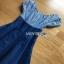Blue Cotton and Denim Lady Ribbon Dress เดรสผ้าคอตตอน thumbnail 4