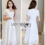Lady Karen Sweet Feminine Pure White Lace Dress thumbnail 1