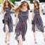 Lady Ribbon Online เสื้อผ้าออนไลน์ ขายส่ง normal ของแท้ NA12140716 &#x1F389Normal Ally Present new summer collection striped silk dres thumbnail 1