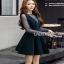Lady Ribbon Danielle Green Pleated Set Dress thumbnail 5