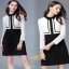 เสื้อผ้าแขนยาว แฟชั่นลูกไม้เกาหลีสีขาว thumbnail 1