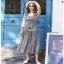Chic Ruffle Checked Lady Ribbon Cotton Dress thumbnail 2