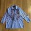 Lady Ribbon Cotton Shirt เชิ้ตลายทางสีฟ้าปักลายดอกไม้ thumbnail 7