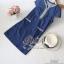 2Sister Made, Beauty Navy Jeans Vintage Dress เดรสยีนส์ลุคเก๋ๆ เนื้อผ้าเดนิมสีเข้ม ดีเทลแขนสั้น thumbnail 6