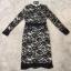 Black Lace Dress dress. ลูกไม้ดำซับสีเนื้อ thumbnail 6