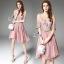 SV03310816 &#x1F389Sevy Luxury Lace Pink Gold Embroidered Dress Type: Dress Fabric: Mesh+Lace+Chiffon+Organdy thumbnail 1