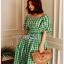 Checked Dress Lady Ribbon ขายเดรสผ้าคอต thumbnail 4