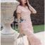 Lady Ribbon Online ขายส่งเสื้อผ้าออนไลน์เลดี้ริบบอน LR21010816 &#x1F380 Lady Ribbon's Made &#x1F380 Lady Gabriella Sexy Feminine Flower Embroidered Pinky Dress thumbnail 2