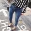 กางเกงยีนส์แฟชั่นแต่งรอยขาด แบรนด์เกาหลี Daisy thumbnail 7