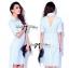 Lady Ribbon Online ขายส่งเสื้อผ้าออนไลน์ Lady Ribbon LR03040816 &#x1F380 Lady Ribbon's Made &#x1F380 Lady Lilly Chinoise Chic Backless Shirt Dress thumbnail 1
