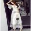 White Lace Maxi Dress Lady Ribbon เดรสยาว thumbnail 3