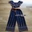 Jumpsuit with Silk Satin Belt Lady Ribbon จัมป์สูทผ้าเครป thumbnail 8