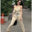 Lady Lily Casual Chic Ribbon Jumpsuit จัมป์สูทสายเดี่ยว thumbnail 2