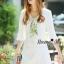 NA10010916 &#x1F389Normal Ally Present White boutique autumn classic dress&#x1F389 (เดรส , มีซับในอย่างดี ,ซิปข้าง) thumbnail 5