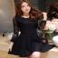 เสื้อผ้าแฟชั่นเกาหลีCliona Black Lace Dress - ลูกไม้นิ่ม เกรดดี thumbnail 3
