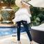 กางเกงยีนส์แฟชั่นแต่งรอยขาด แบรนด์เกาหลี Daisy thumbnail 12