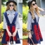 NA12290816 &#x1F389Normal Ally Present Embroidered skirt autumn new collection and striped shirt&#x1F389 (เสื้อเชิตริ้วปักการ์ตูน+ กป.ปักนูนลายกราฟฟิก, มีซับในอย่างดี) thumbnail 1