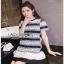 Lady Ribbon Black & White Dress เดรสสีขาว-ดำ thumbnail 1