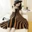 เสื้อผ้าแฟชั่นเกาหลีCliona Cool Strip Dress - Long dress สายเดี่ยว thumbnail 3