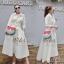 2Sister Made, White Elegant Beauty Maxi Dress แม็กซี่เดรสลุคเรียบหรู thumbnail 1