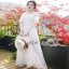 Lady Ribbon Summer Casual Basic White Lace Maxi Dress thumbnail 1