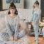 Lady Emma Pretty Pastel Check Ruffle Pajamas Ribbon thumbnail 2